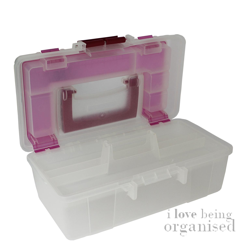 Opciones creativas herramientas caja de plástico bandeja de Arte Caja de herramientas de almacenamiento de artesanía